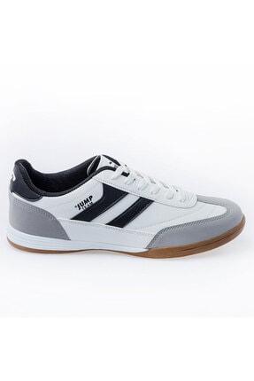 Jump 18089 Merdane Beyaz Siyah Spor Beyaz Ayakkabı
