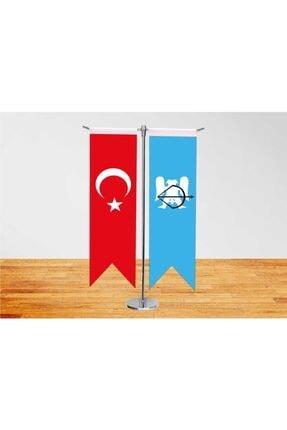 Vatan Bayrak Masa Üstü Kırlangıç Selçuklu Devleti Ve Türk Bayrağı İkili T Direk Masa Bayrağı
