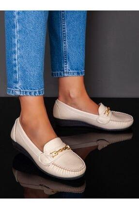 ayakkabıhavuzu Kadın Krem Günlük Ayakkabı  1735482