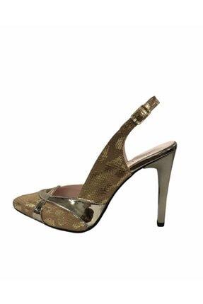 Pierre Cardin Kadın Altın Rengi Topuklu Abiye Ayakkabı 54083