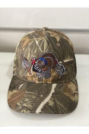 Okuma Unisex Kahverengi Motif Şapka