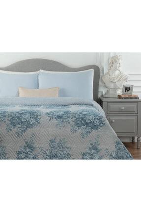 Madame Coco Histone Tek Kişilik Baskılı Yatak Örtüsü - Mavi