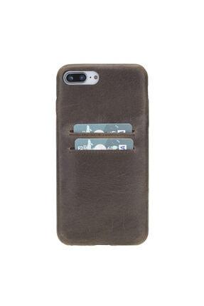 PLM Ultra Cover Cc Deri Telefon Kılıfı Kartlıklı Iphone 7-ip8 Plus Ro6 Kahve