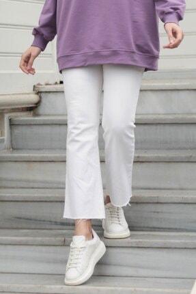 Gizce Kadın Sule Beyaz Pantolon