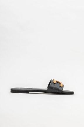Elle Shoes Siyah Kadın Düz Terlik