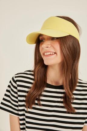 Y-London 14053 Sarı Renkli Üstü Açık Vizor Şapka