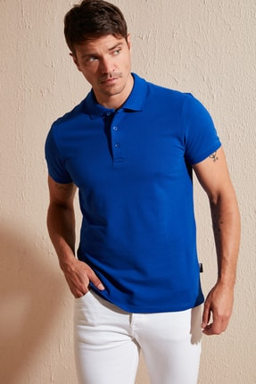 Buratti Erkek Lacivert Pamuklu Polo T Shirt 5902127