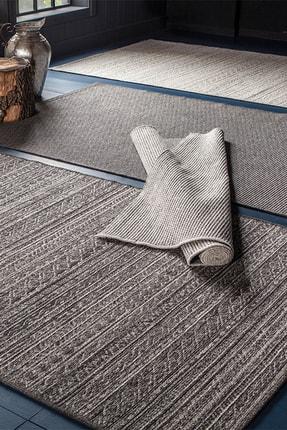 Enza Home Perla Modern Özel Tasarım Dokuma Halı - Antrasit 160x230