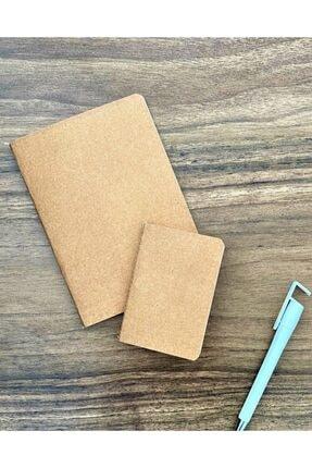 Gold Notebook 12x17 Sırttan Dikişli Soft Esnek Baskısız 2' Set Defter 04 Graf