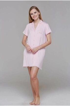 PJS Kadın Gecelik Elbise Pembe 21534