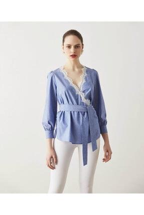 İpekyol Dantel Şeritli Bluz