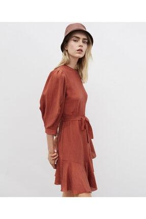 İpekyol Fırfır Şeritli Kuşaklı Elbise