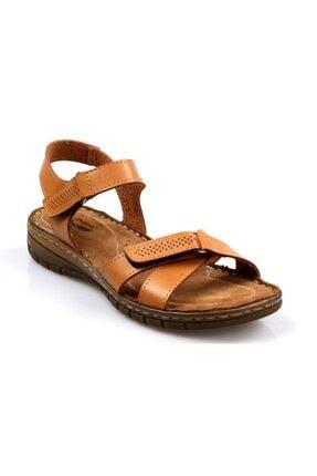 Polaris Ortapedik Bayan Günlük Camel Sandalet