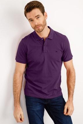 İgs Erkek Mor Modern Fit Polo Yaka T-shirt