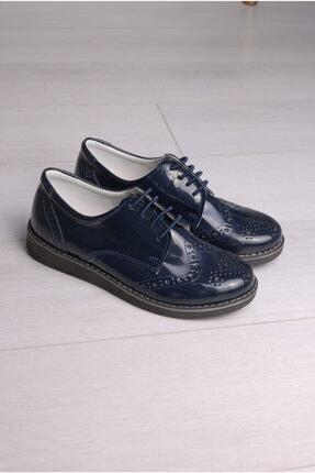 Rıdvan Çelik Erkek Çocuk Lacivert Rugan Bağcıklı Klasik Ayakkabı