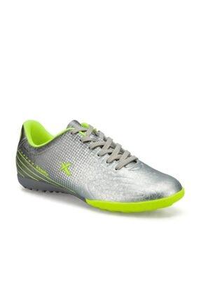Kinetix Erkek Gümüş Neon Yeşil Halı saha Futbol Ayakkabısı