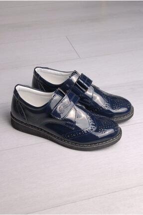 Rıdvan Çelik Erkek Çocuk Lacivert Rugan Klasik Ayakkabı