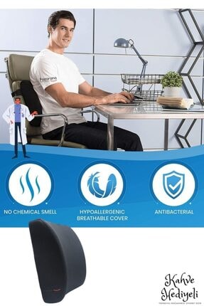 Ankaflex Ortopedik Koltuk Minderi Araç Sandalye Bel Sırt Desteği Yastığı