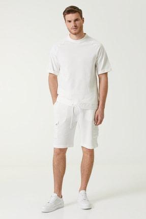 Network Erkek Comfort Fit Beyaz Cep Detaylı Şort 1078360