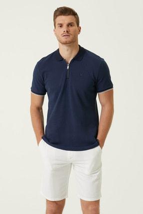 Network Erkek Slim Fit Lacivert Polo Yaka T-shirt 1078401