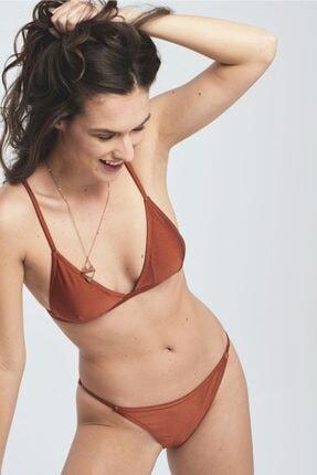 Herita Üçgen Simli Bikini Takım Tarçın