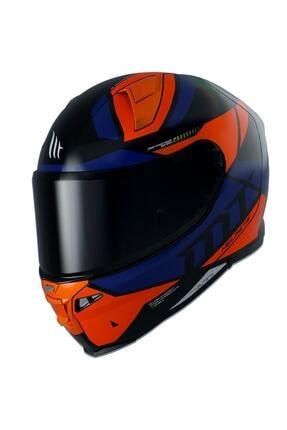 MT Helmets Mt Revenge 2 Scalpel A4 Gloss Fluor Orange Şeffaf Vizörlü
