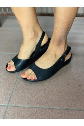 Muya Kadın Siyah Renk Klasık Şık Spor Model Manyetik Taban Anatomik Yazlık Ayakkabı 29170
