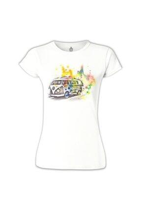 Lord T-Shirt Kadın Beyaz Wv- Minibüs Tshirt