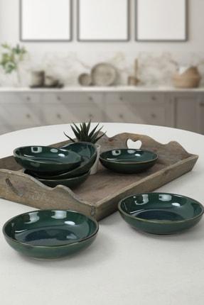 Keramika Zümrüt Halka Çerezlik 13 cm 6 Adet