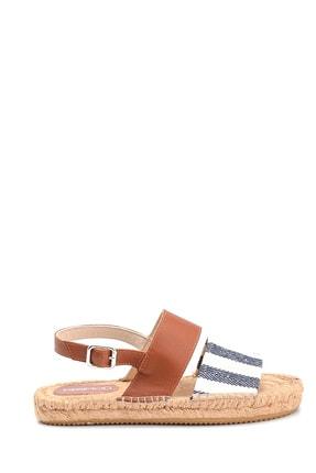 Derimod Kadın Lacivert Hasır Tabanlı Sandalet