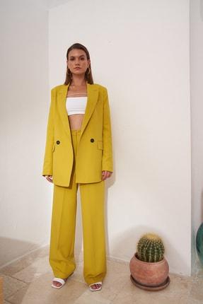 Eka Kadın Yeşil Iki Düğmeli Blazer Ceket 0993-2112