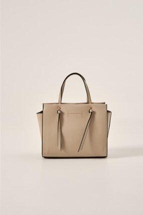 Shule Bags Kadın Düğüm Detay Mini Çapraz Çanta Alba Bej