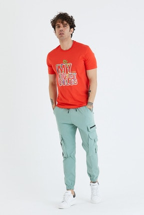 BREEZY Baskılı Kırmızı Renk  T-shirt  01213