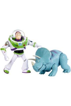 Toy Story Buzz Lightyear Ve Trixie - 2 Karakterli Paket - Filmindeki Gerçek Ölçülerde