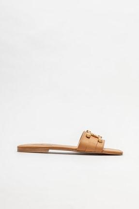 Elle Shoes Naturel Kadın Düz Terlik