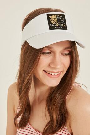 Y-London 14097 Kaplan Armalı Beyaz Vizor Şapka