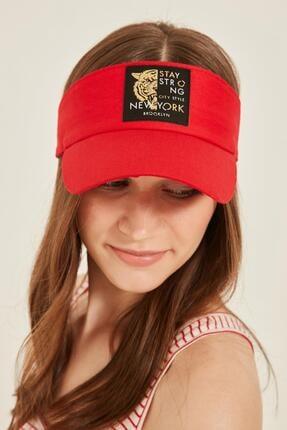 Y-London 14097 Kaplan Armalı Kırmızı Vizor Şapka