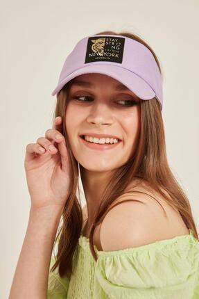 Y-London 14097 Kaplan Armalı Lila Vizor Şapka