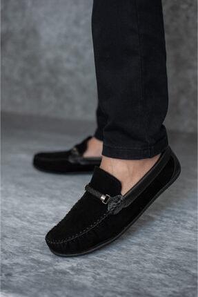 Wadork Erkek Siyah Süet Loafer Casual Ayakkabı