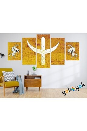 nefes Selçuklu Bayrağı Görselli Dekoratif Duvar Dekorasyon Ahşap (mdf) Tablosu