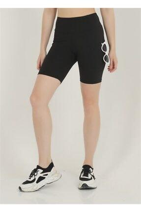 missmaral Kadın Biker Toparlayıcı Yüksek Belli Çift Cepli Kısa Spor Tayt