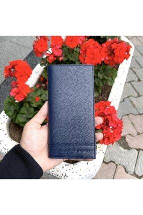Karalı Deri Hakiki Deri Unısex Portföy Cüzdan C240 Lacivert
