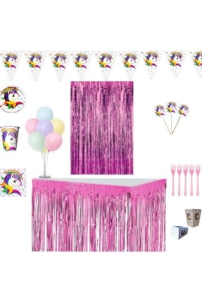UNICORN Doğum Günü Parti Seti Maxi 8 Kişilik