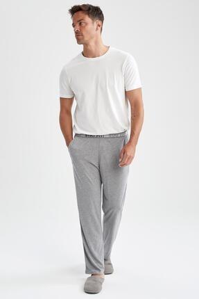 DeFacto Relax Fit Beli Yazı Detaylı Pijama Altı
