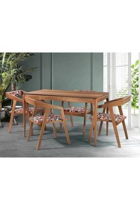 messline Prowood 4 Sandalyeli Ahşap Masa Takımı Mutfak&salon