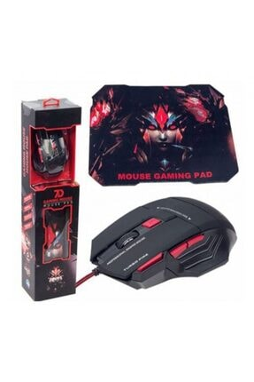 zore X7 Kablolu + Mouse Ped Oyuncu Mouse