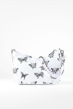 Bershka Kelebek Desenli Çanta