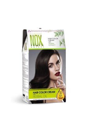 Morfose Nox Kit Saç Boyası Açık Küllü Kahve 5.1