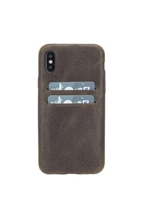PLM Ultra Cover Cc Deri Telefon Kılıfı Kartlıklı Iphone X-xs Ro6 Kahve