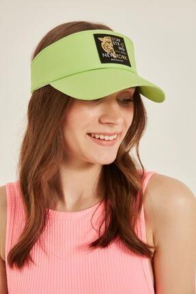 Y-London 14097 Kaplan Armalı Yeşil Vizor Şapka